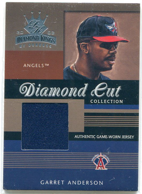 2003 Diamond Kings Diamond Cut Collection #39 Garret Anderson Jsy/450