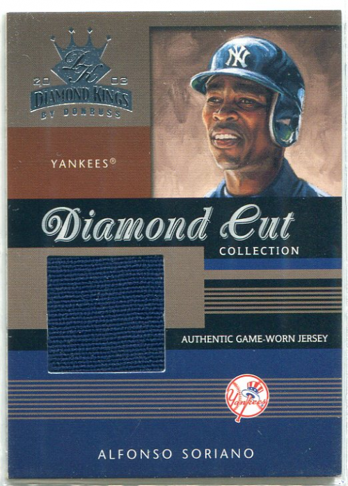 2003 Diamond Kings Diamond Cut Collection #48 Alfonso Soriano Jsy/400