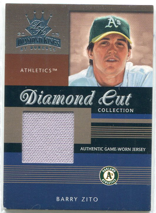 2003 Diamond Kings Diamond Cut Collection #50 Barry Zito Jsy/350
