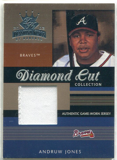 2003 Diamond Kings Diamond Cut Collection #61 Andruw Jones Jsy/500