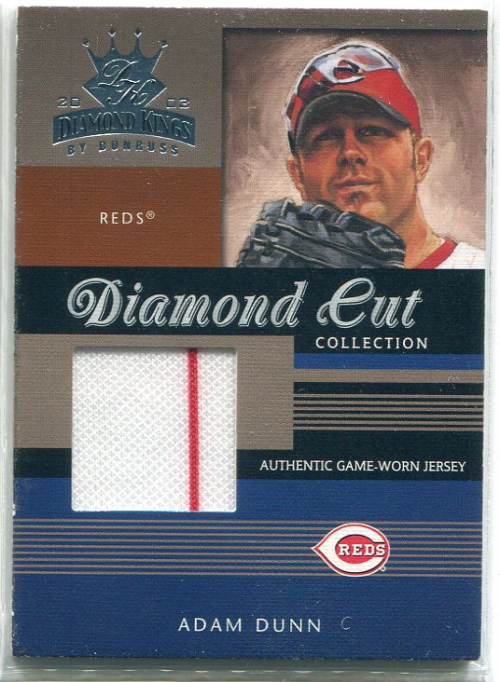 2003 Diamond Kings Diamond Cut Collection #64 Adam Dunn Jsy/350