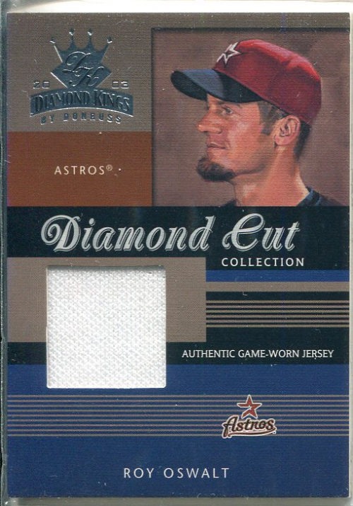 2003 Diamond Kings Diamond Cut Collection #68 Roy Oswalt Jsy/500
