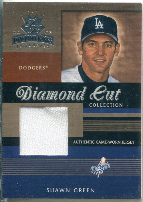 2003 Diamond Kings Diamond Cut Collection #75 Shawn Green Jsy/500