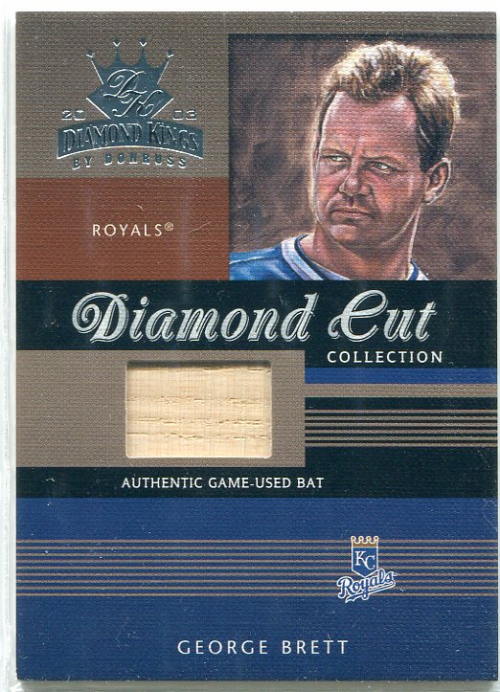 2003 Diamond Kings Diamond Cut Collection #76 George Brett Bat/350