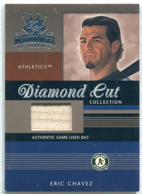2003 Diamond Kings Diamond Cut Collection #85 Eric Chavez Bat/500