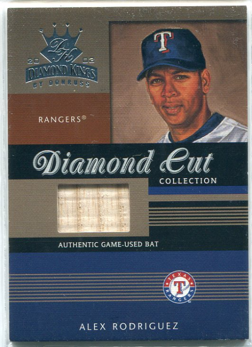 2003 Diamond Kings Diamond Cut Collection #87 Alex Rodriguez Bat/500