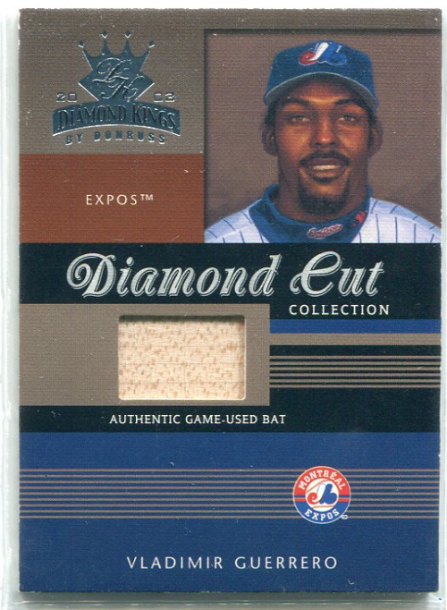 2003 Diamond Kings Diamond Cut Collection #88 Vladimir Guerrero Bat/500