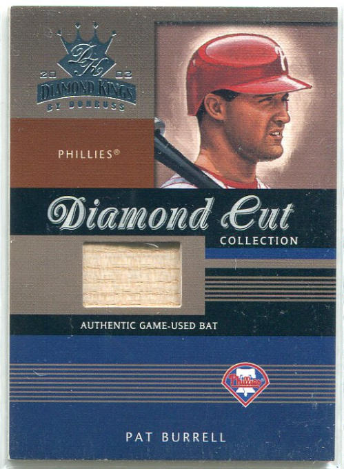 2003 Diamond Kings Diamond Cut Collection #94 Pat Burrell Bat/500
