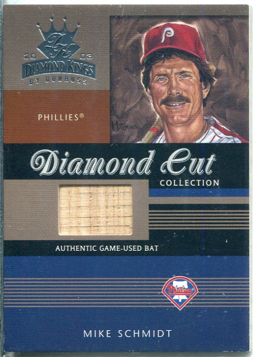 2003 Diamond Kings Diamond Cut Collection #96 Mike Schmidt Bat/500