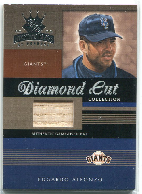 2003 Diamond Kings Diamond Cut Collection #98 Edgardo Alfonzo Bat/500