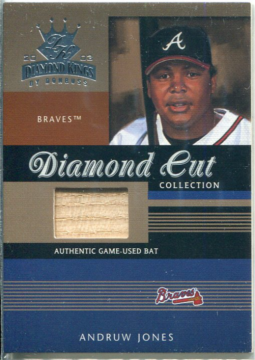 2003 Diamond Kings Diamond Cut Collection #99 Andruw Jones Bat/500