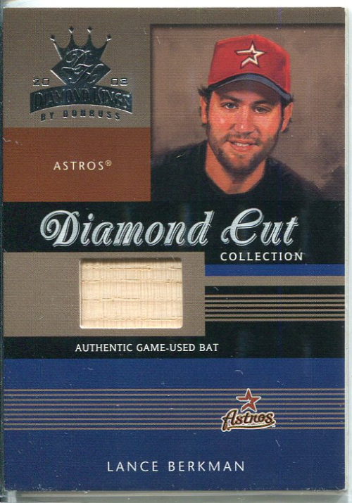 2003 Diamond Kings Diamond Cut Collection #102 Lance Berkman Bat/500
