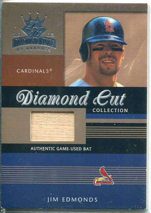 2003 Diamond Kings Diamond Cut Collection #105 Jim Edmonds Bat/250