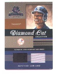 2003 Diamond Kings Diamond Cut Collection #106 Alf Soriano Hat-Jsy/75