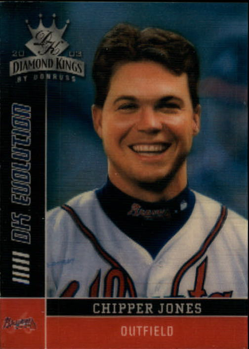 2003 Diamond Kings DK Evolution #24 Chipper Jones