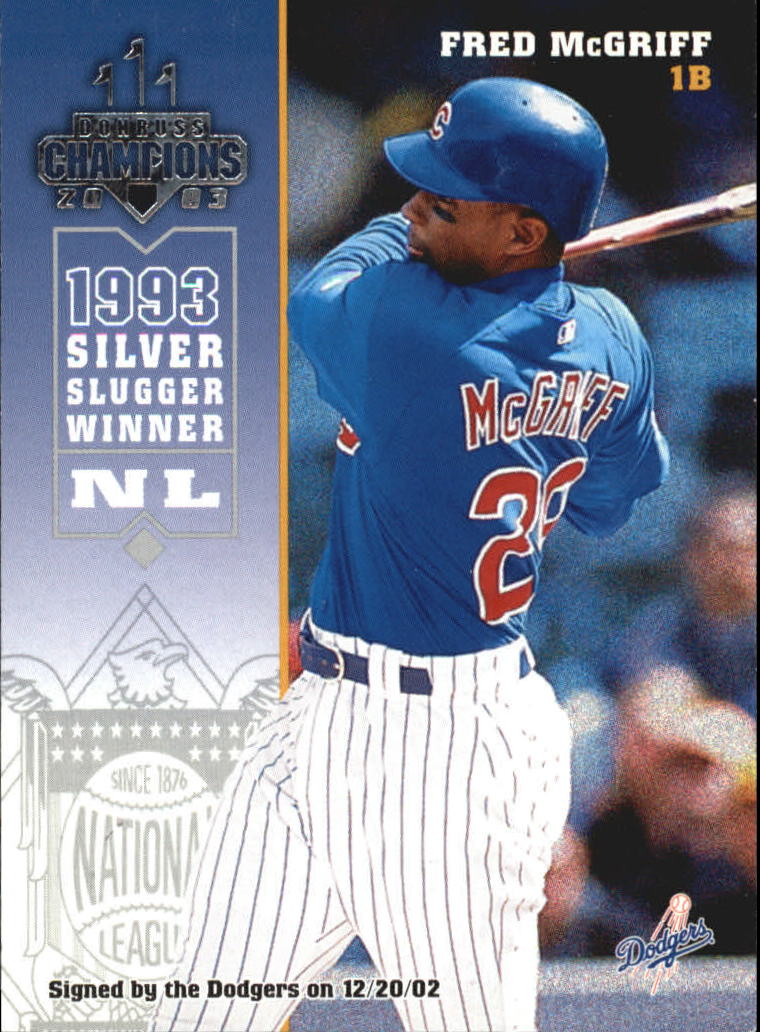 2003 Donruss Champions #47 Fred McGriff