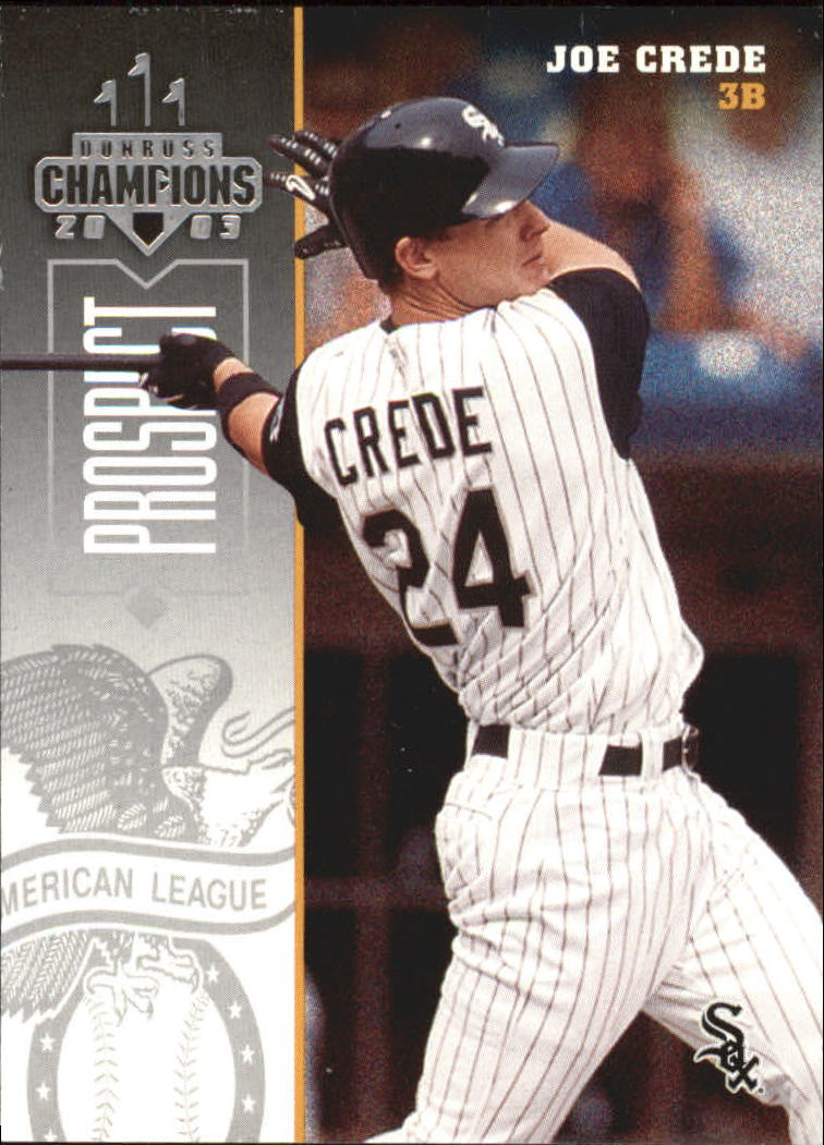 2003 Donruss Champions #60 Joe Crede