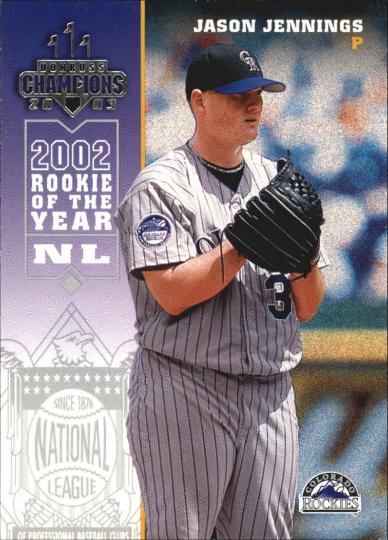 2003 Donruss Champions #90 Jason Jennings