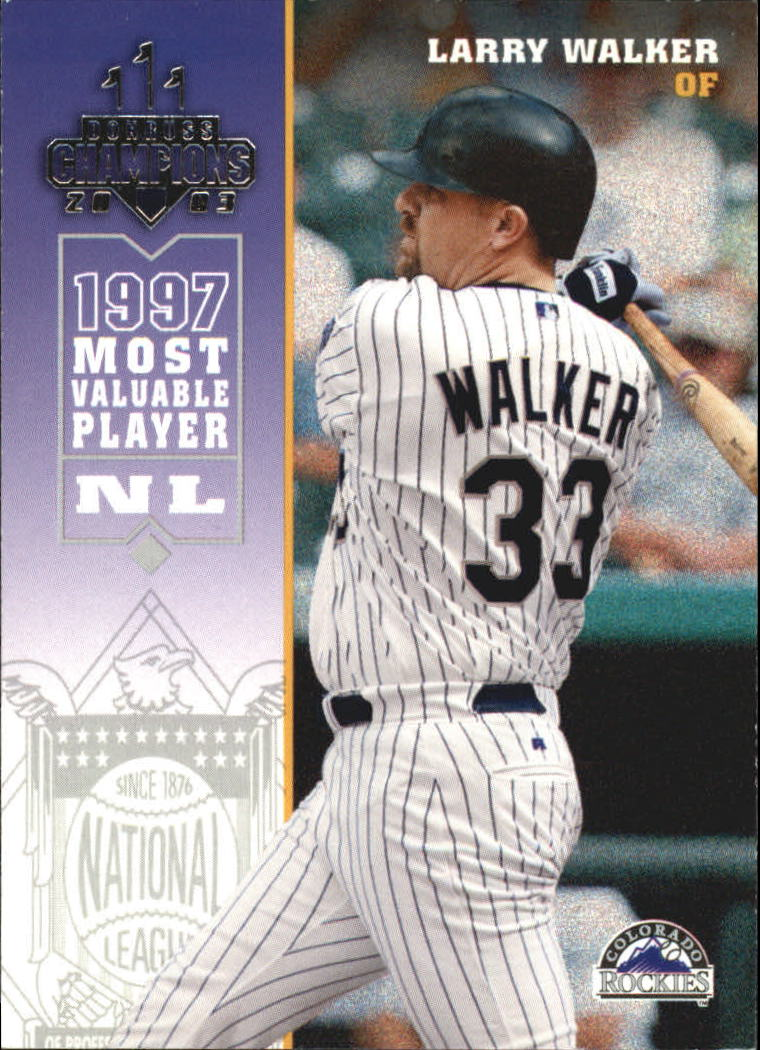 2003 Donruss Champions #94 Larry Walker