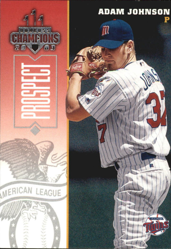 2003 Donruss Champions #156 Adam Johnson
