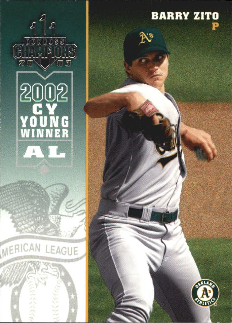 2003 Donruss Champions #182 Barry Zito