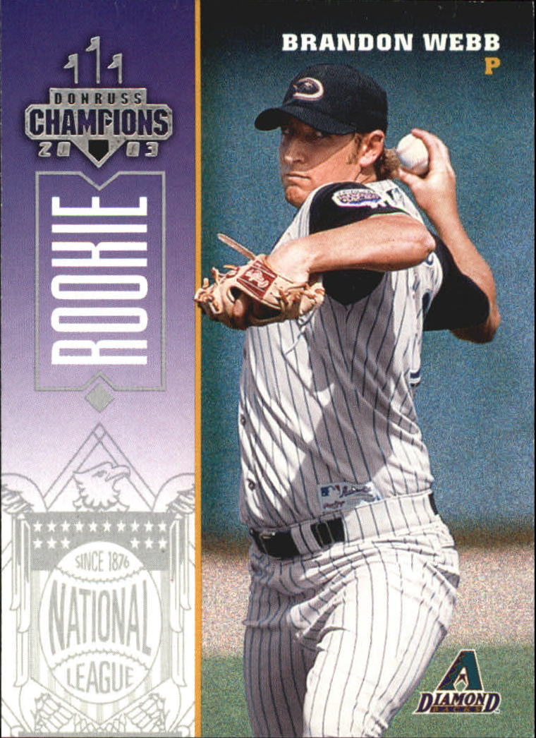 2003 Donruss Champions #283 Brandon Webb RC