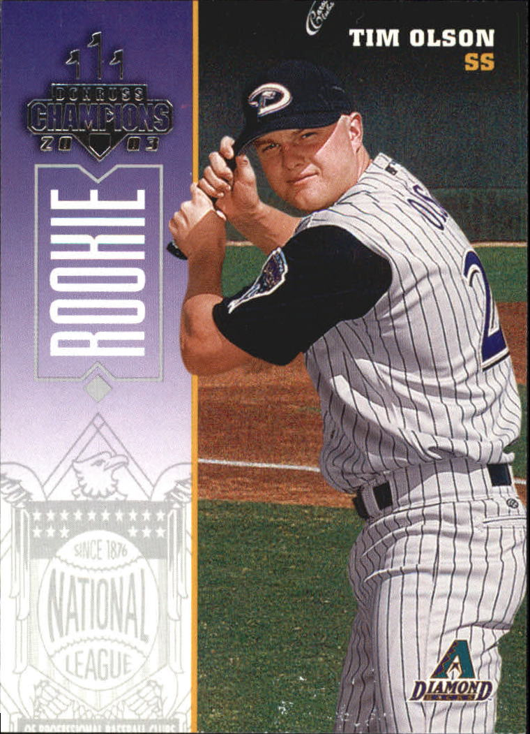 2003 Donruss Champions #284 Tim Olson RC