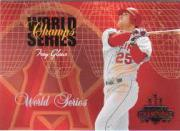 2003 Donruss Champions World Series Champs #1 Troy Glaus