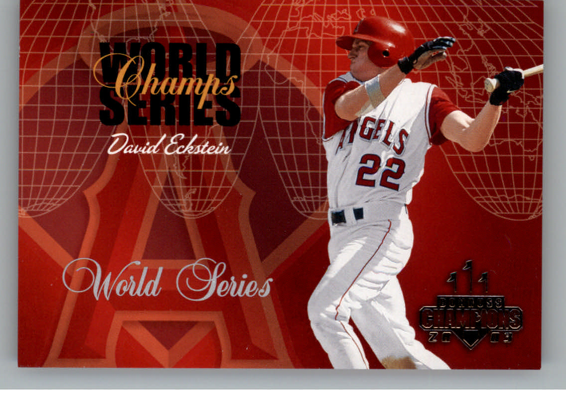 2003 Donruss Champions World Series Champs #5 David Eckstein