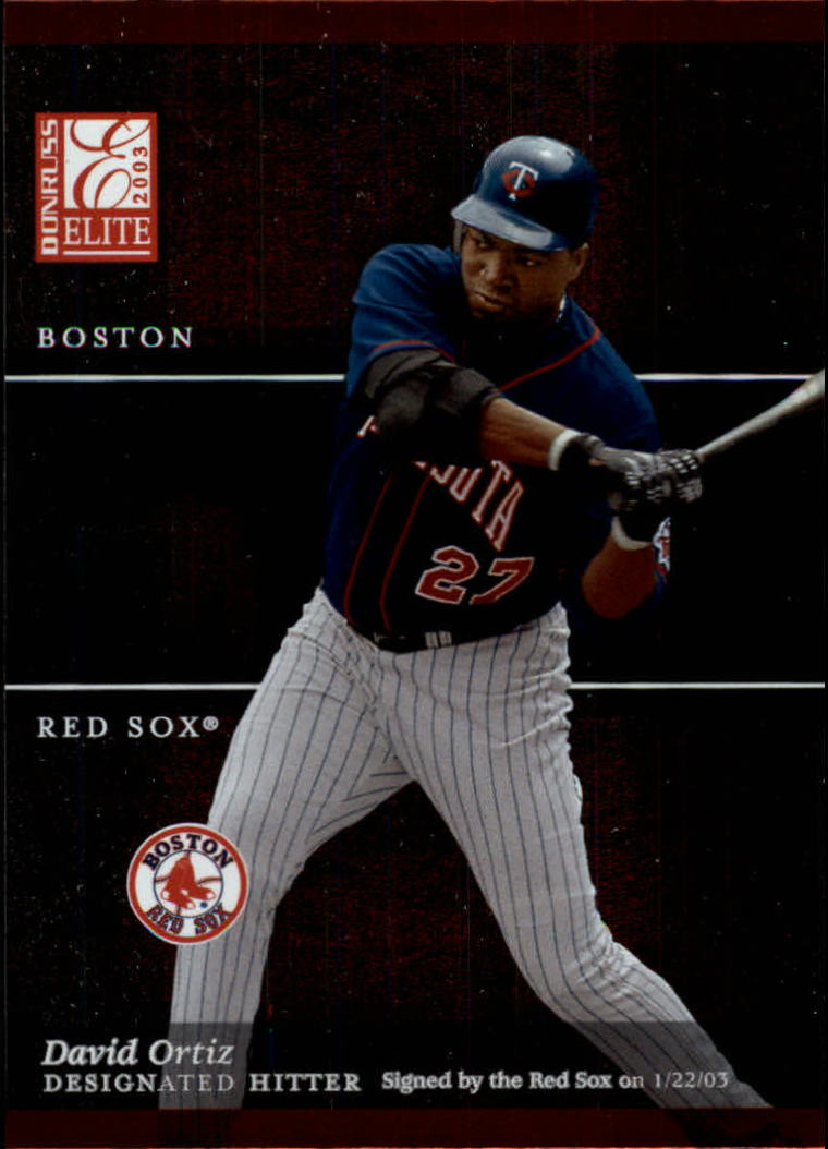 2003 Donruss Elite #39 David Ortiz