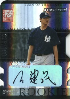 2003 Donruss Elite Extra Edition Turn of the Century Autographs #3 Chien-Ming Wang