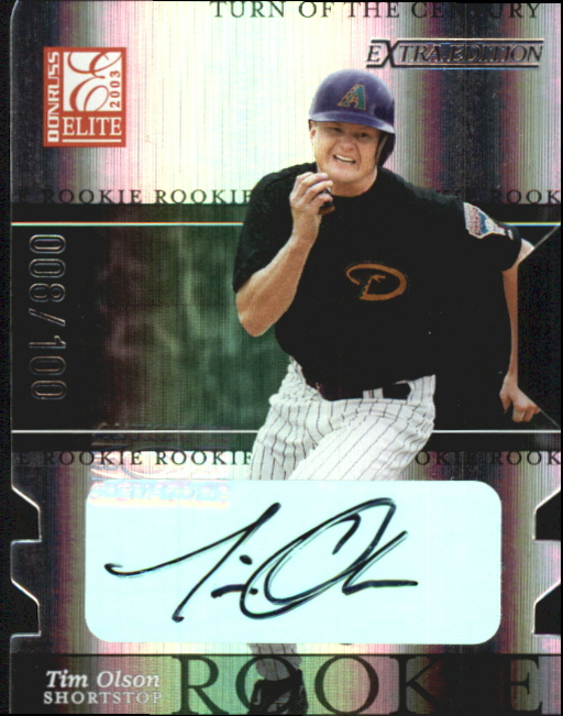 2003 Donruss Elite Extra Edition Turn of the Century Autographs #11 Tim Olson