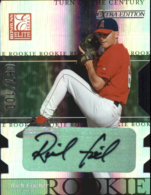 2003 Donruss Elite Extra Edition Turn of the Century Autographs #12 Rich Fischer