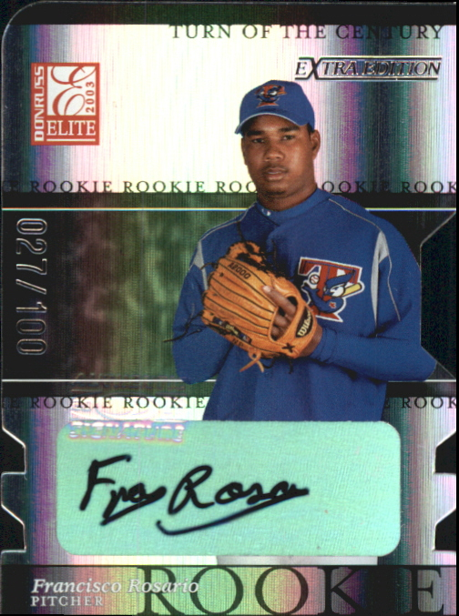 2003 Donruss Elite Extra Edition Turn of the Century Autographs #14 Francisco Rosario