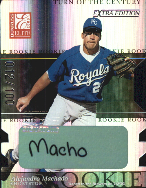 2003 Donruss Elite Extra Edition Turn of the Century Autographs #16 Alejandro Machado