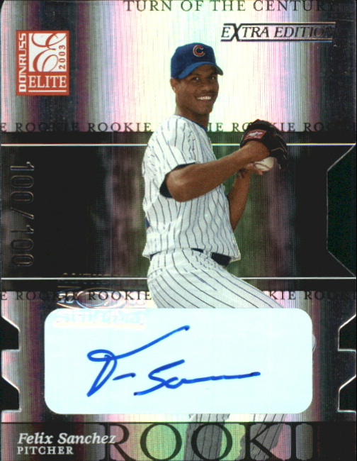 2003 Donruss Elite Extra Edition Turn of the Century Autographs #20 Felix Sanchez