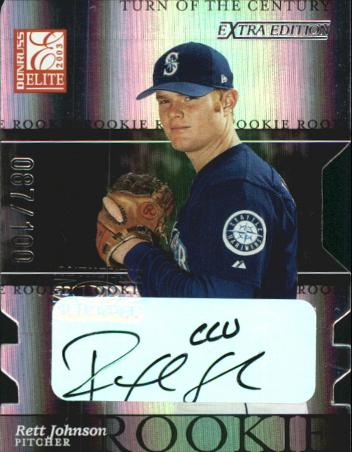 2003 Donruss Elite Extra Edition Turn of the Century Autographs #24 Rett Johnson