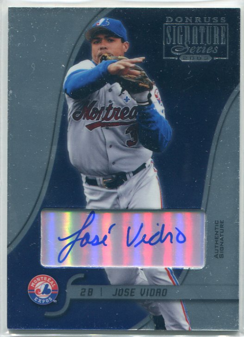 2003 Donruss Signature Autographs #53 Jose Vidro