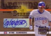 2003 Donruss Signature Legends of Summer Autographs Decade #36 Ryne Sandberg