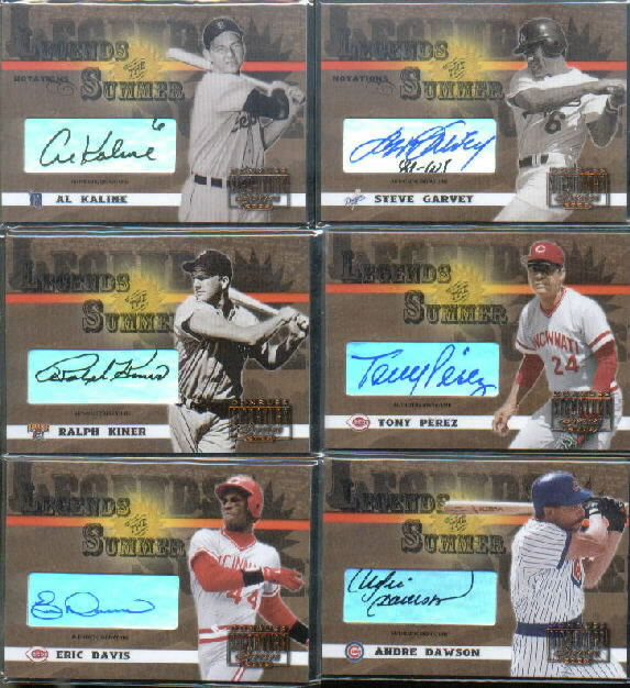2003 Donruss Signature Legends of Summer Autographs Notations #1A Al Kaline #6/200