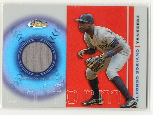 2003 Finest Uniform Relics #AS Alfonso Soriano A