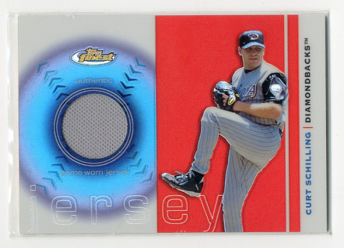 2003 Finest Uniform Relics #CS Curt Schilling B