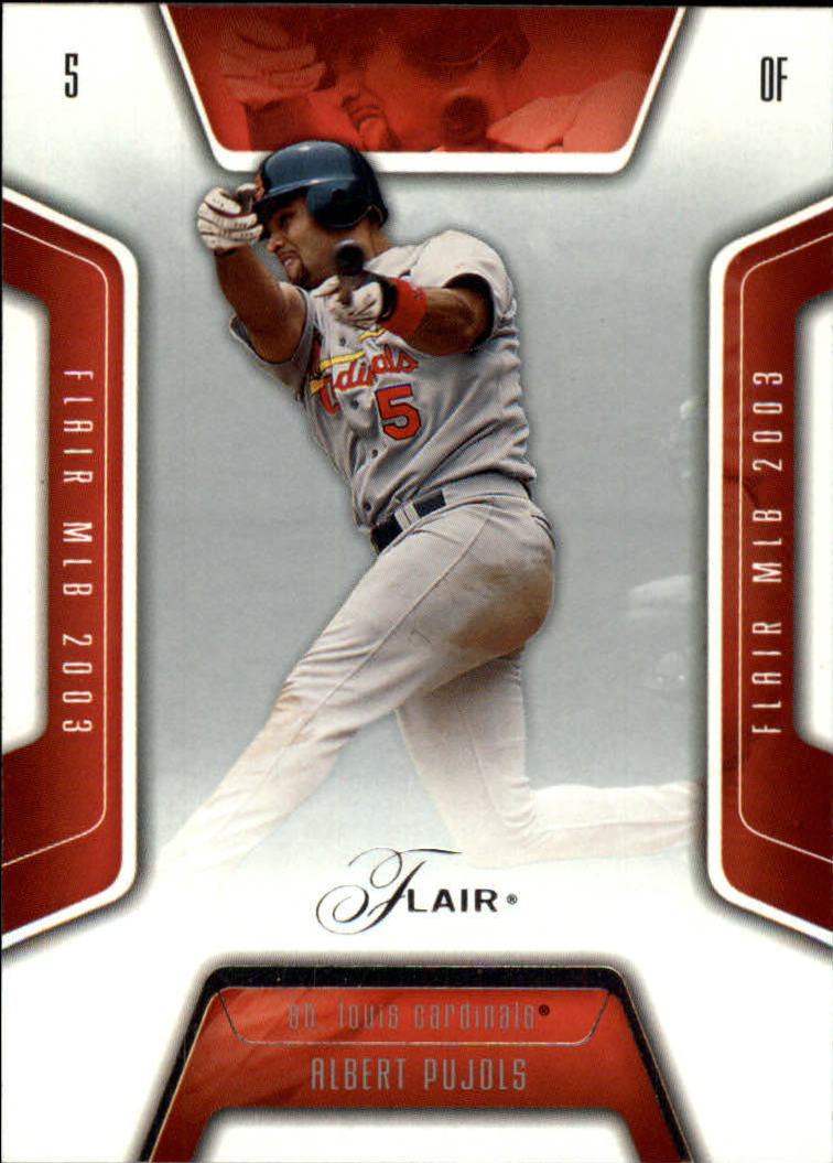 2003 Flair #55 Albert Pujols