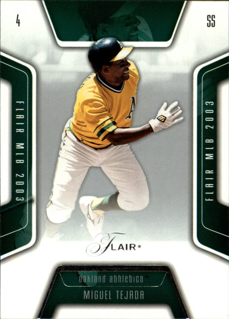 2003 Flair #78 Miguel Tejada