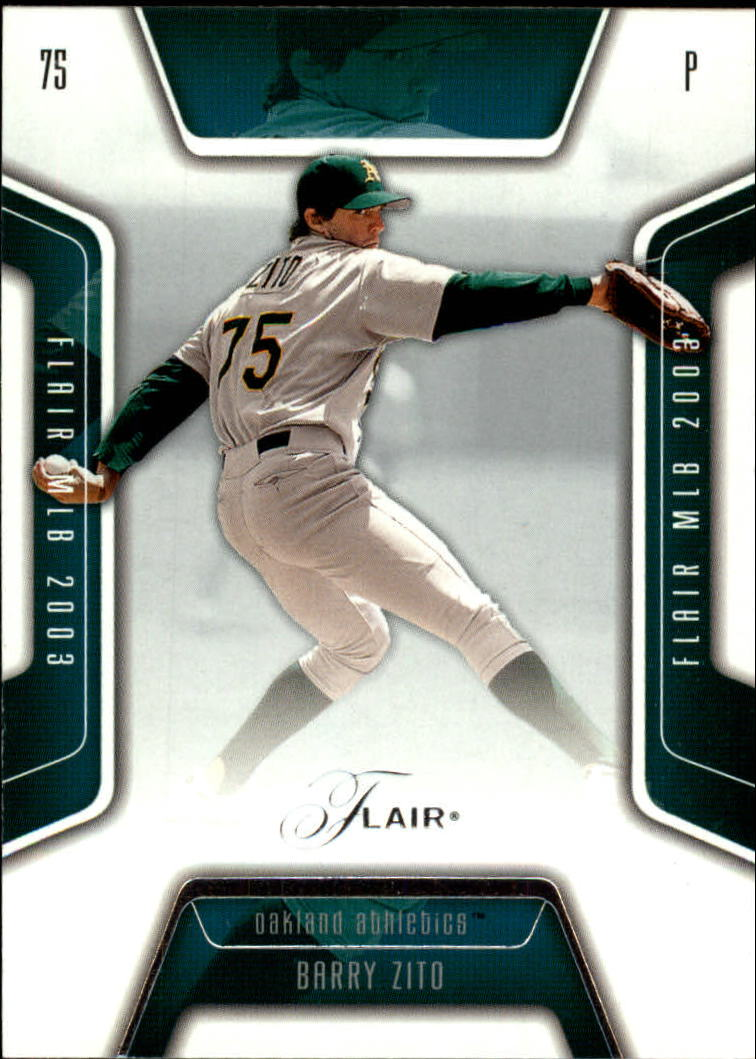 2003 Flair #90 Barry Zito