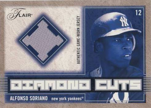 2003 Flair Diamond Cuts Jersey #AS Alfonso Soriano