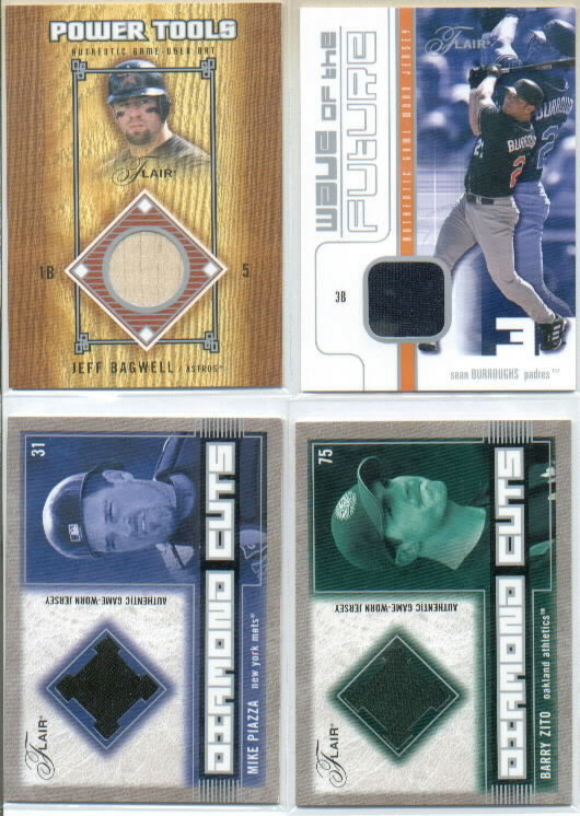 2003 Flair Diamond Cuts Jersey #BZ Barry Zito