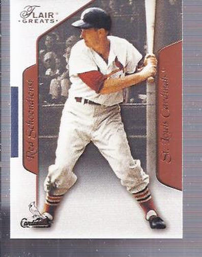 2003 Flair Greats #2 Red Schoendienst