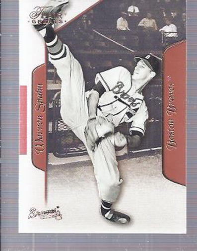 2003 Flair Greats #51 Warren Spahn front image