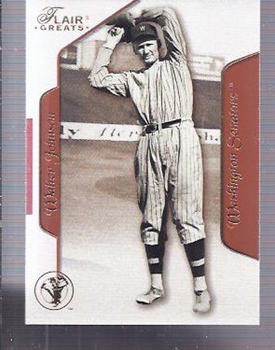 2003 Flair Greats #75 Walter Johnson